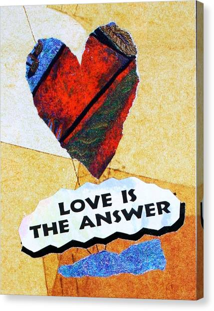 Love Is The Answer Collage Canvas Print