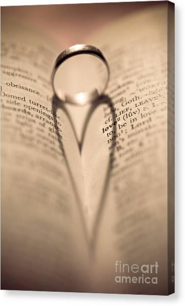 Hearts Canvas Print - Love by Jan Bickerton