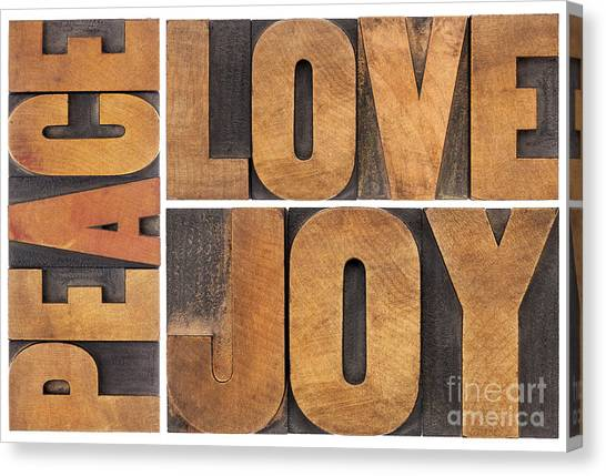 Love Joy And Peace Canvas Print