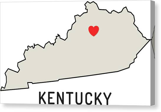 Love Kentucky State Canvas Print by Chokkicx