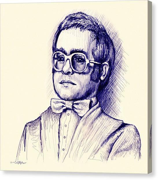 Elton John Canvas Print - Love Lies Bleeding by Cristophers Dream Artistry