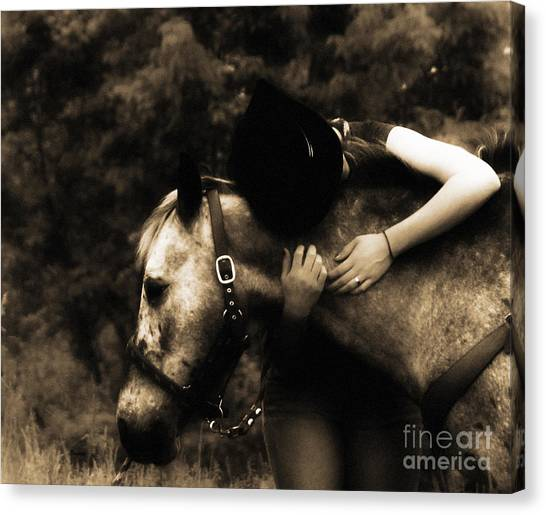 Love Like A Cowgirl Canvas Print by Steven Digman