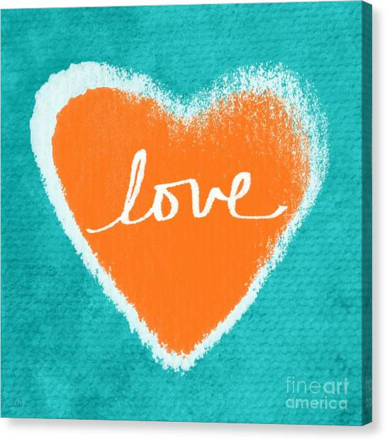 Love Canvas Print - Love by Linda Woods