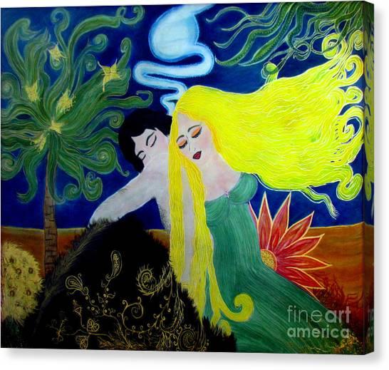 Fantasy Cave Canvas Print - Love Magic by Veronica V Jackson