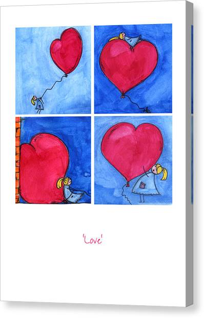 Anniversary Canvas Print - Love by Meg Hawkins