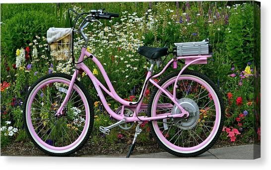 Love My Bike Canvas Print