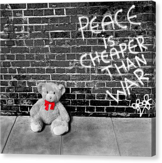 Love Not War Canvas Print