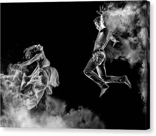 Jump Canvas Print - Love by ?ntonik