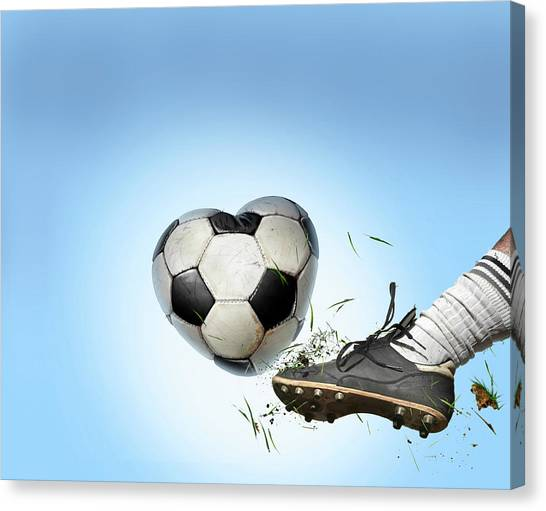 Soccer Canvas Print - Love Of Football by Smetek