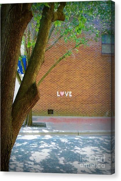 Love On The Wall Canvas Print by Lorraine Heath
