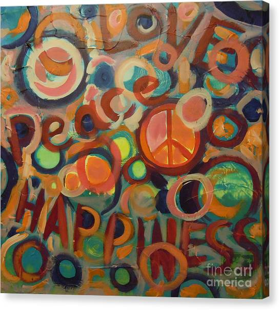 Love Peace Happiness Canvas Print
