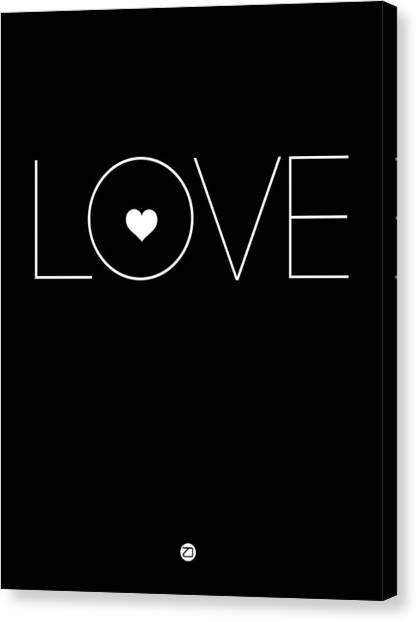 Lovers Canvas Print - Love Poster Black by Naxart Studio