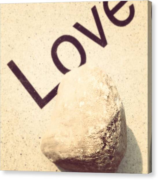 Inspirational Canvas Print - Love Rocks by Christy Beckwith
