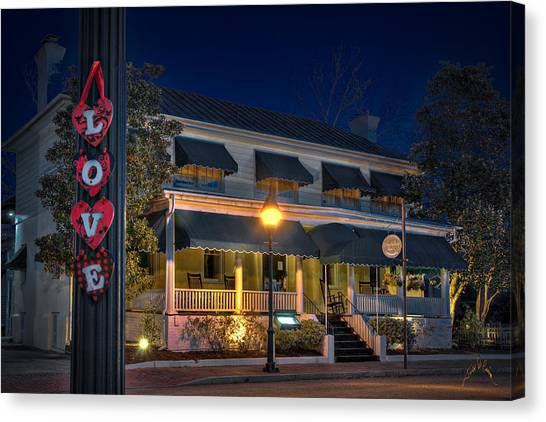 Canvas Print featuring the photograph Love Smithfield Inn by Williams-Cairns Photography LLC