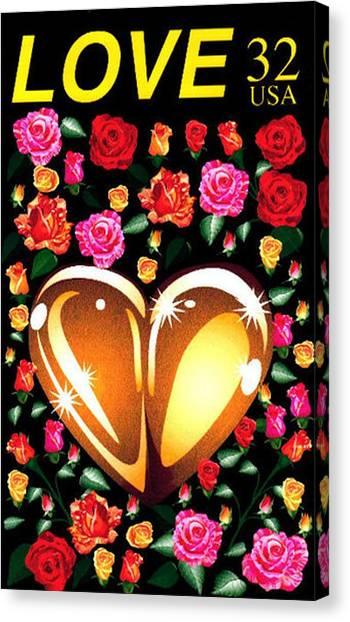 Love Stamp Canvas Print
