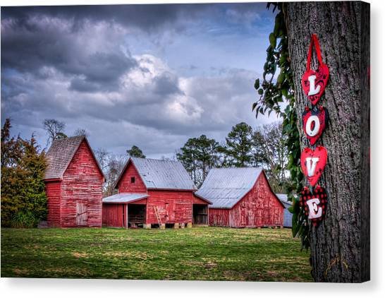 Love The Barns At Windsor Castle Canvas Print by Williams-Cairns Photography LLC