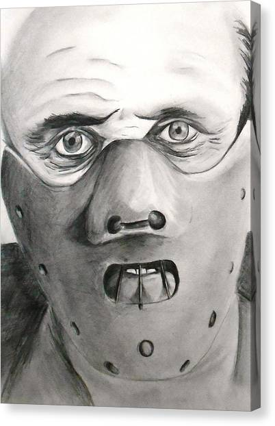 Silence Of The Lambs Canvas Print - Love The Suit by Aaron Beeston