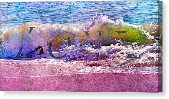 Tumbling Canvas Print - Love The Wave by Betsy Knapp