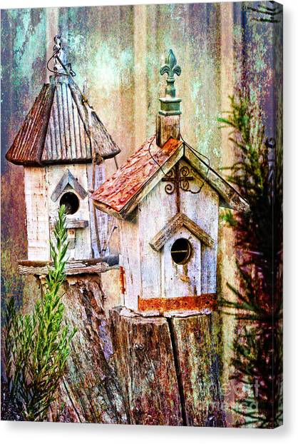 Love Thy Neighbor - Birdhouses Canvas Print