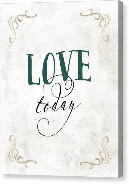 Wedding Day Canvas Print - Love Today by Tara Moss