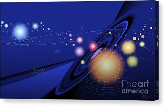 Canvas Print featuring the digital art Love  Universe by Eleni Mac Synodinos