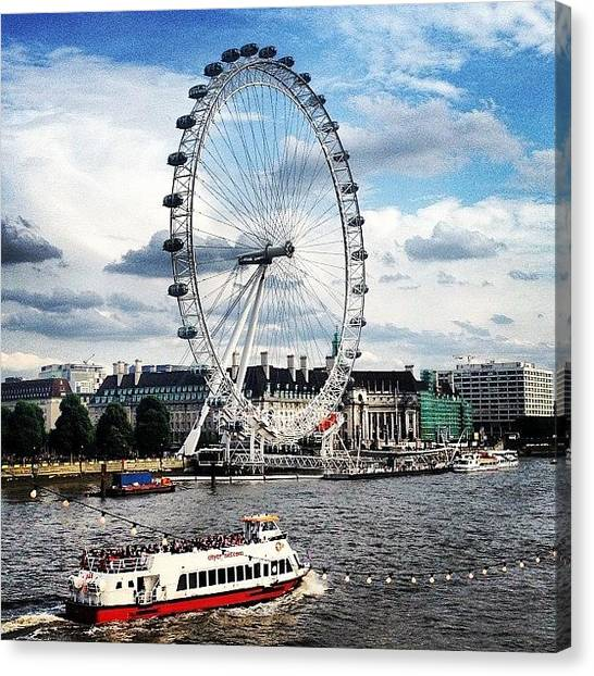 London Eye Canvas Print - Love Walking In London by Andrea Drudikova
