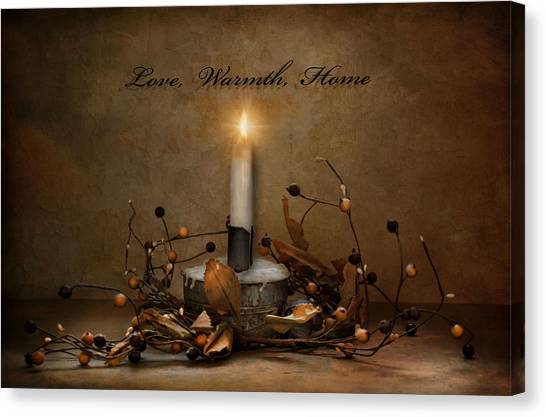 Love Warmth Home Canvas Print