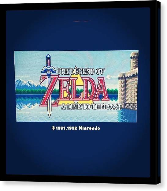 Video Games Canvas Print - #love #zelda #nintendo <3 by Mandy Shupp