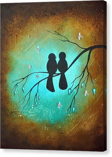 Lovebirds Canvas Print - Lovebirds by Charlene Murray Zatloukal