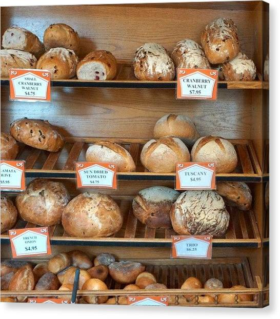 Bakeries Canvas Print - #lovebread #yummy #bakery by Jenn Miller