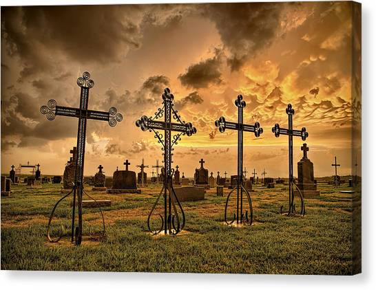 Prairie Sunsets Canvas Print - Loved Ones by Thomas Zimmerman