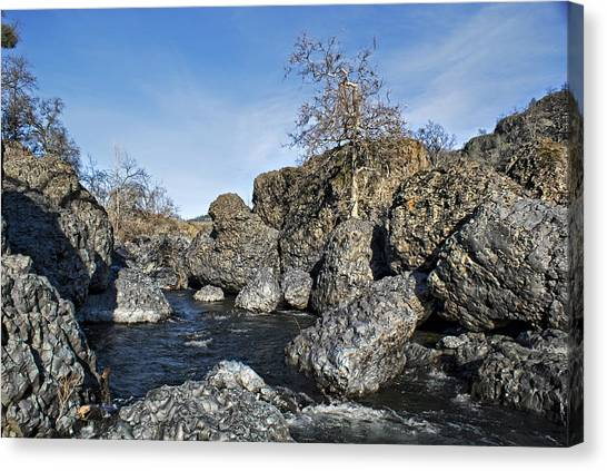 Lovejoy Basalt Formations  Canvas Print