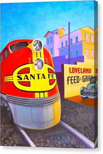 Loveland's Feed And Grain Canvas Print by Alan Johnson