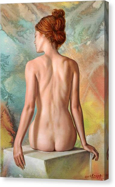 Back Canvas Print - Lovely Back-becca In Abstract by Paul Krapf