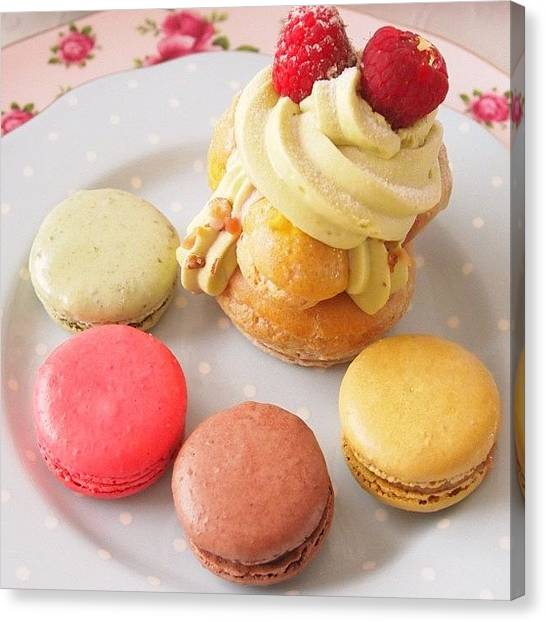 Sweet Tea Canvas Print - Lovely Cake♡♡♡ by Momoko Hasegawa