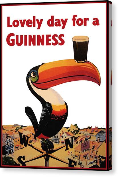 Toucan Canvas Print - Lovely Day For A Guinness by Georgia Fowler