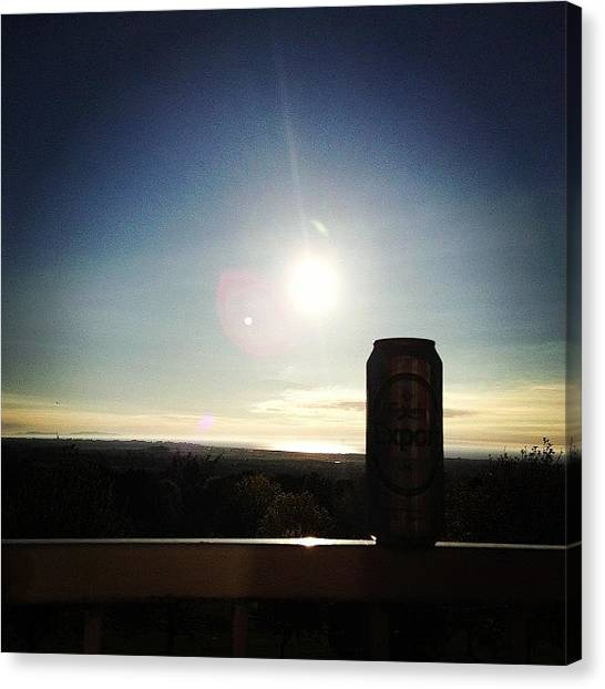 Beer Can Canvas Print - Lovely Sunday! #view #sun #beer #can by Jack Williams