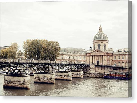 Le Louvre Canvas Print - Lover's Bridge Paris by Ivy Ho