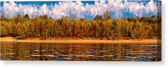 Lovers On The Bank Canvas Print