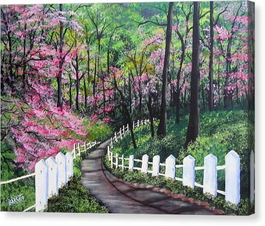 Lovers' Trail Canvas Print