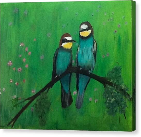 Lovey-dovey Canvas Print