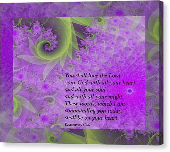 Loving God With All Your Heart Canvas Print