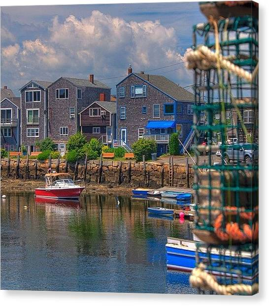 Fishing Canvas Print - Loving Summer In Rockport Ma by Joann Vitali