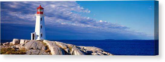 Nova Scotia Canvas Print - Low Angle View Of A Lighthouse, Peggys by Panoramic Images