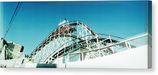 Cyclones Canvas Print - Low Angle View Of A Rollercoaster by Panoramic Images