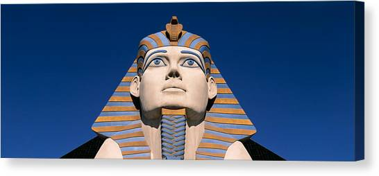 Egyptian Art Canvas Print - Low Angle View Of A Sphinx, Luxor Hotel by Panoramic Images