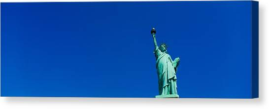 Statue Canvas Print - Low Angle View Of Statue Of Liberty by Panoramic Images