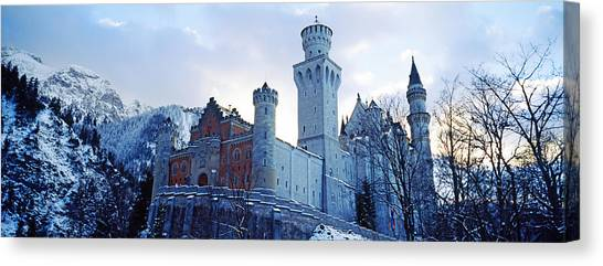 Romanesque Art Canvas Print - Low Angle View Of The Neuschwanstein by Panoramic Images