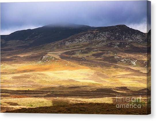 Moorland Canvas Print - Low Cloud Over Highlands by Jane Rix