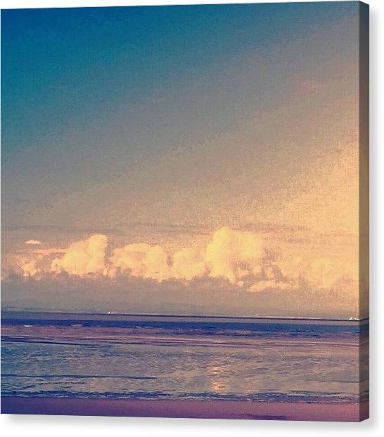 Floss Canvas Print - Low Clouds/beach #beach#instabeach by Candy Floss Happy